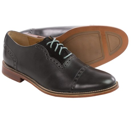J Shoes Chalice Leather Oxford Shoes - Cap Toe (For Men)