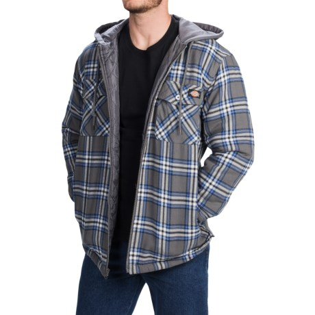 Dickies Quilted Plaid Shirt Jacket - Hooded (For Men and Big Men)