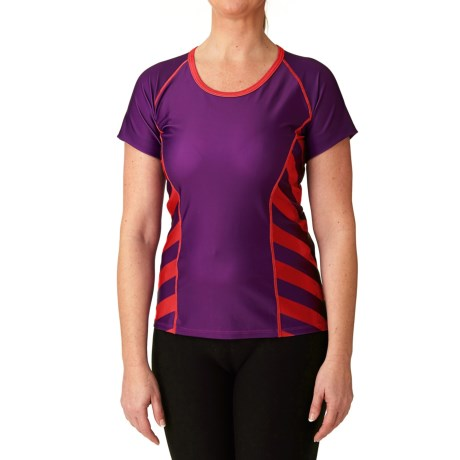 Moxie Cycling Color-Block Tee Cycling Jersey - UPF 50+ (For Women)