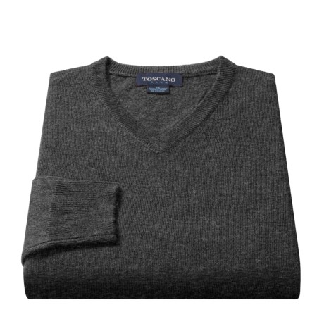 Toscano V-Neck Sweater - Lambswool (For Men)