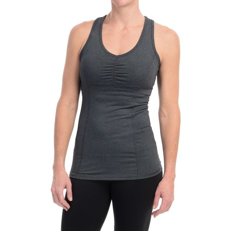 Pro Series Crossing Lines Support Tank Top - Built-In Sports Bra, Racerback (For Women)