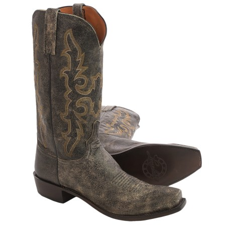 Lucchese Aviator Cowboy Boots - Leather, Square Toe (For Men)