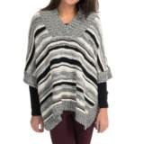 525 America Handknit Poncho - Wool Blend, V-Neck (For Women)