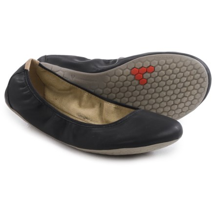 Vivobarefoot Jing Jing Shoes - Vegan Leather (For Women) in Black - Closeouts