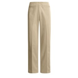 Cotton Blend Pants - Side Zip (For Women)