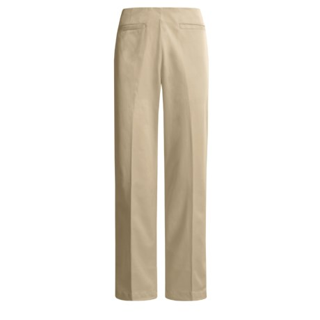 Cotton Blend Pants - Side Zip (For Women)