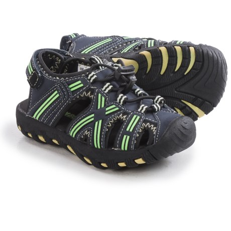 Khombu Lil' Rex Stripe Sandals - Waterproof (For Toddlers)