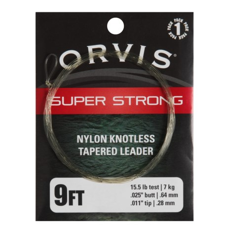 Orvis Super Strong Knotless Fly Leader - 9'