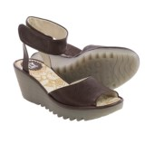 Fly London Yula Wedge Sandals - Leather (For Women)