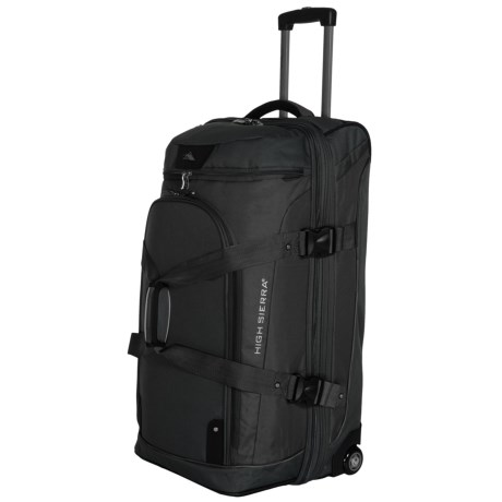 "High Sierra AT3 Rolling Duffel Suitcase - 32"", Drop Bottom"