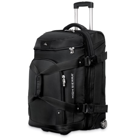 "High Sierra AT3 Rolling Duffel Suitcase - 26"", Expandable"
