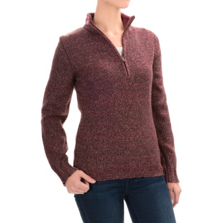 Woolrich Tanglewood Sweater - Zip Neck (For Women)