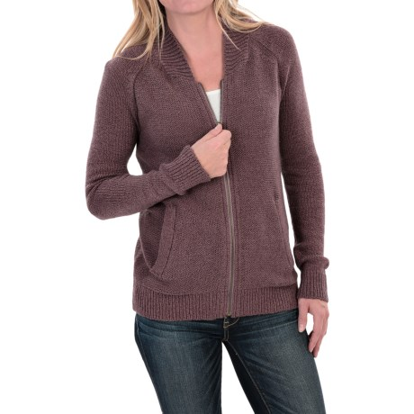 Woolrich Alpine Ascent Bomber Sweater - Zip Front (For Women)
