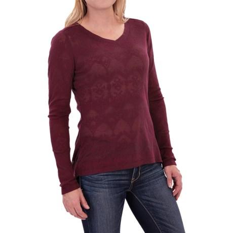 Woolrich Ricketts Glen Burnout T-Shirt - Long Sleeve (For Women)