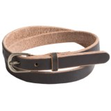 Bill Adler Skinny Jelly Bean Leather Belt (For Women)
