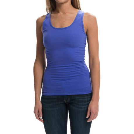 Racerback Ribbed Knit Tank Top (For Women)