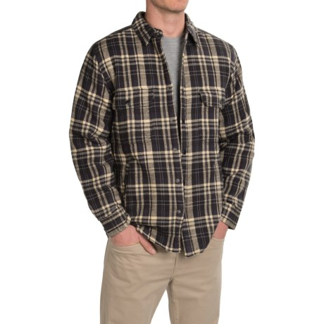 Woolrich Oxbow Bend Plaid Flannel Shirt Jacket - Snap Front (For Men)