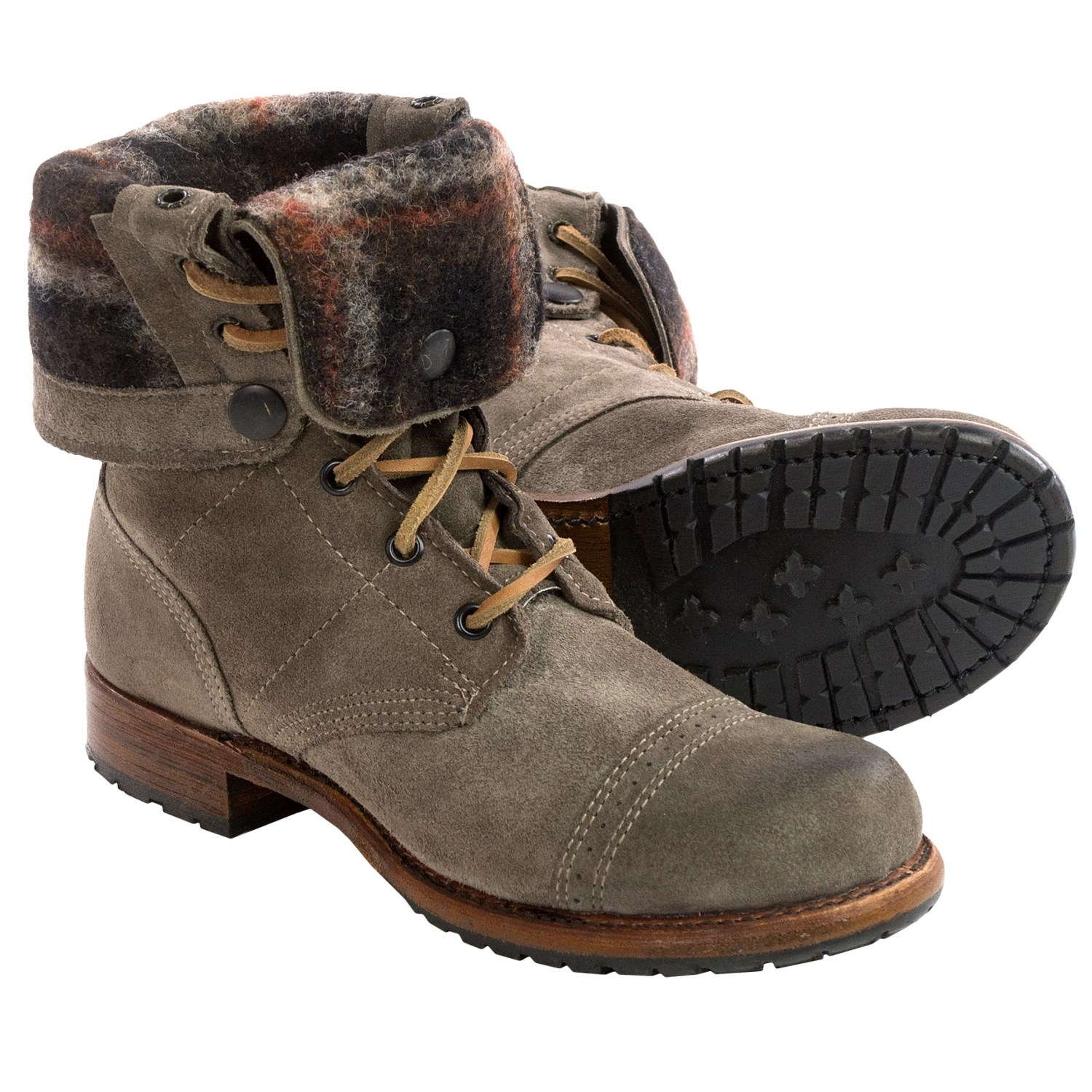 b98520e4232 Vintage Shoe Company Adeline Leather Boots (For Women) 107JF 80 on ...