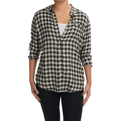 Lucky Brand Boyfriend Shirt - Brushed Modal, Long Sleeve (For Women)
