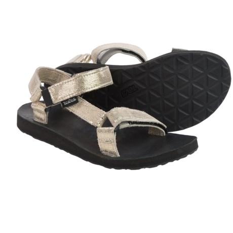 Teva Original Metallic Leather Sport Sandals (For Women)