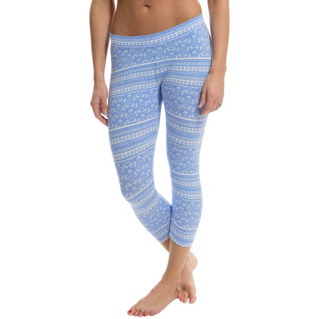 PACT Crop Leggings - Stretch Cotton (For Women)