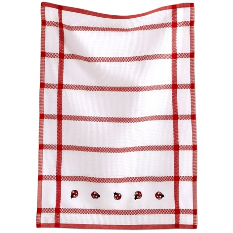 Tag Embroidered Waffle Weave Dish Towel