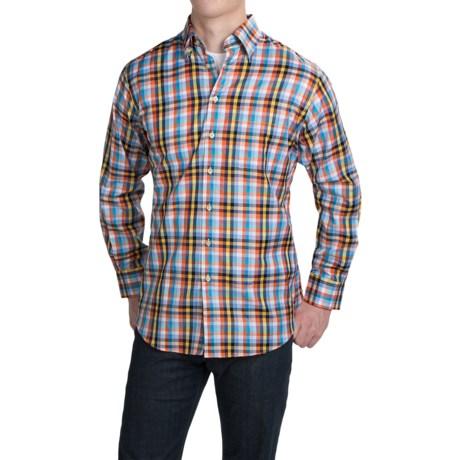 Scott Barber Andrew Cotton Dobby Plaid Shirt - Long Sleeve (For Men)