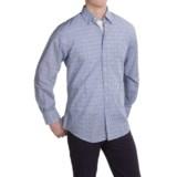 Scott Barber Andrew Cotton Dobby Check Shirt - Long Sleeve (For Men)