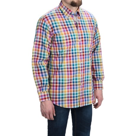 Scott Barber James Compact Poplin Check Shirt - Long Sleeve (For Men)