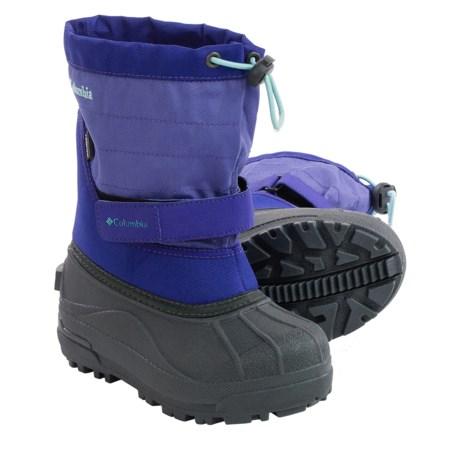 Columbia Sportswear Powderbug Plus II Print Snow Boots - Waterproof, Insulated (For Little Kids)