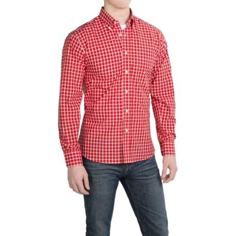 Kenneth Gordon Cotton Check Sport Shirt - Long Sleeve (For Men)