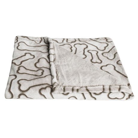 Bone Dry Embossed Bone Pet Throw Blanket - 36x48""