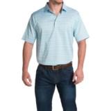 Peter Millar Barker Cotton Lisle Polo Shirt - Tar Heel Blue, Short Sleeve (For Men)