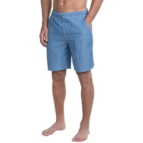 Peter Millar Summer Check Swim Trunks (For Men)
