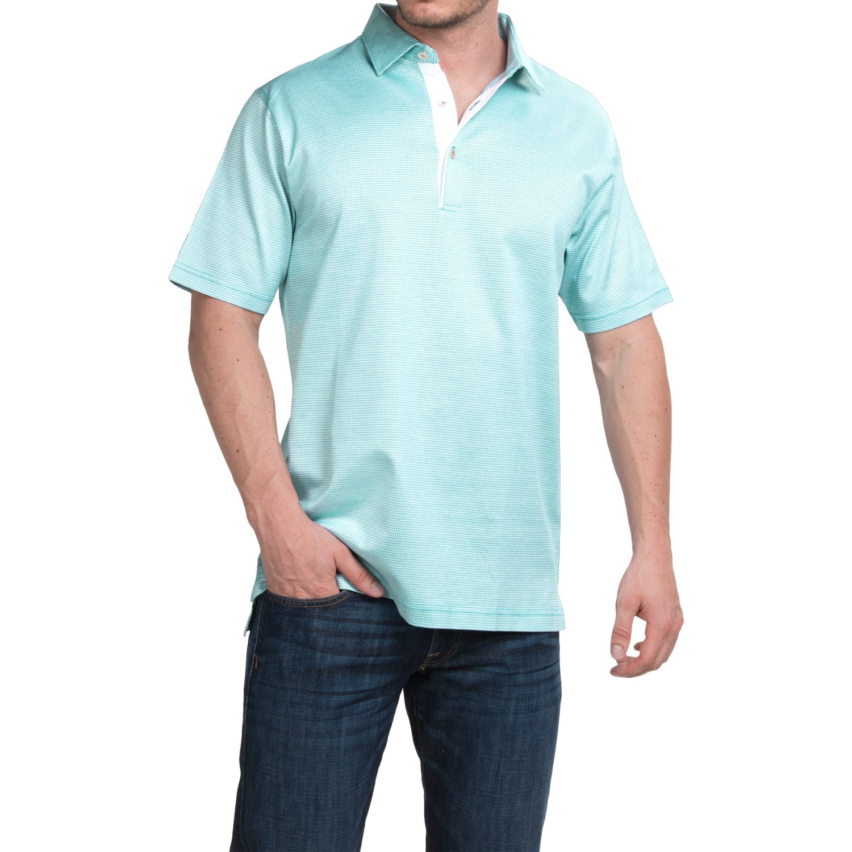 Peter millar barris cotton lisle polo shirt for men for Peter millar polo shirts