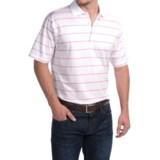 Peter Millar Alex Polo Shirt - Hot Pink Stripe, Short Sleeve (For Men)