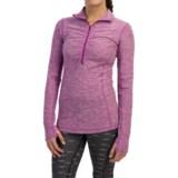 New Balance In Transit Shirt - Zip Neck, Long Sleeve (For Women)