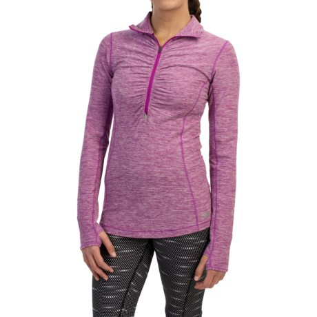 New Balance In Transit Shirt - Zip Neck, Long Sleeve (For Women)