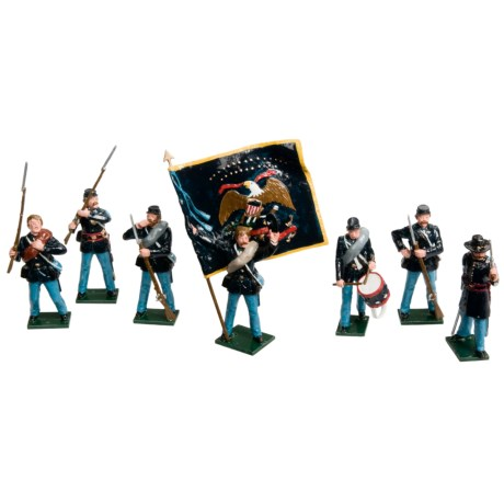Tradition of London Civil War Figurines - 7-Piece Union or Confederate Infantry