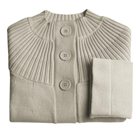 Cullen Cotton-Rich Cardigan Sweater - 3/4 Sleeve (For Women)