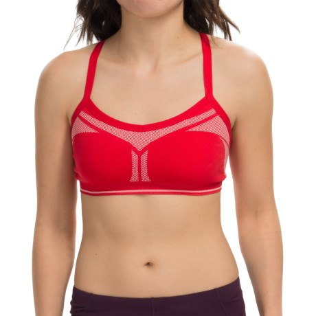 New Balance Strappy Seamless Sports Bra - Low Impact (For Women)