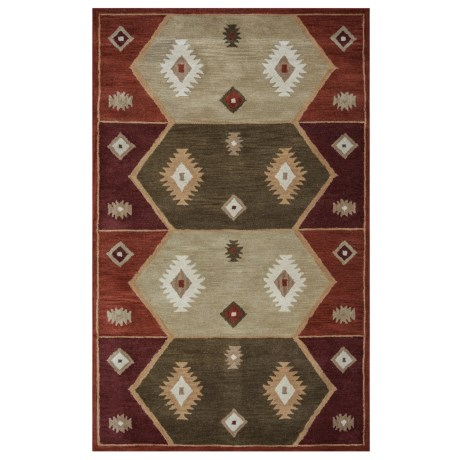 "Rizzy Home Native Hand-Tufted Wool Accent Rug - 3'6""x5'6"""
