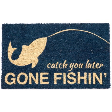 "Entryways Gone Fishing Coir Entry Mat - 17""x28"""
