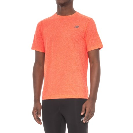 New Balance Heather Tech T-Shirt - Short Sleeve (For Men)