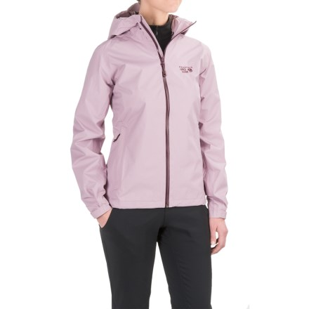 Mountain Hardwear Finder Dry.Q® Core Jacket - Waterproof (For Women) in Stone Green - Closeouts
