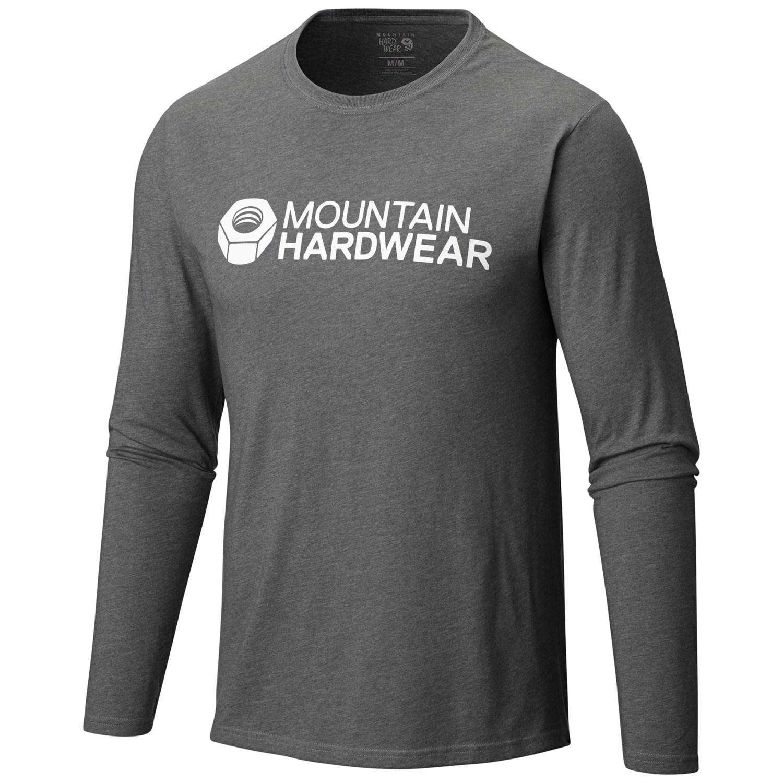 Mountain hardwear logo graphic t shirt for men 109mt for Mountain long sleeve t shirts