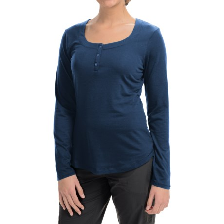Mountain Hardware Dryspun Henley Shirt - Scoop Neck, Long Sleeve (For Women)