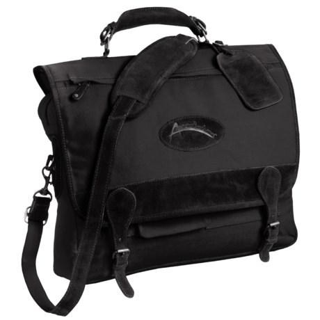 Australian Bag Outfitters Austrialian Bag Outfitters Cobber Messenger Bag - Canvas, Leather Trim