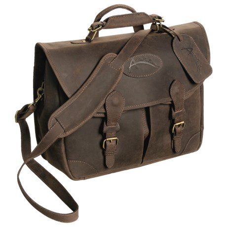 Australian Bag Outfitters Bushman Business Bag - Waxed Leather