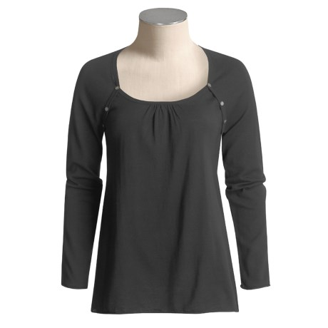 Lilla P High-Twist Cotton Sweater - Scoop Neck (For Women)